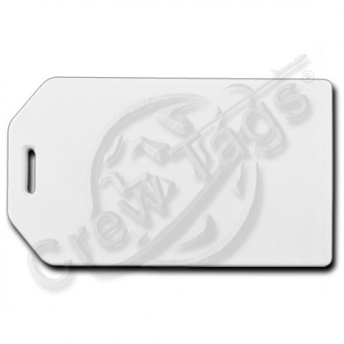 WHITE BUSINESS CARD HOLDER LUGGAGE TAG